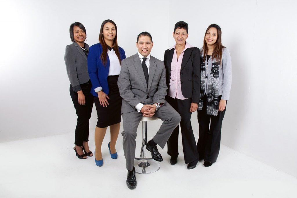 employees, team, corporate